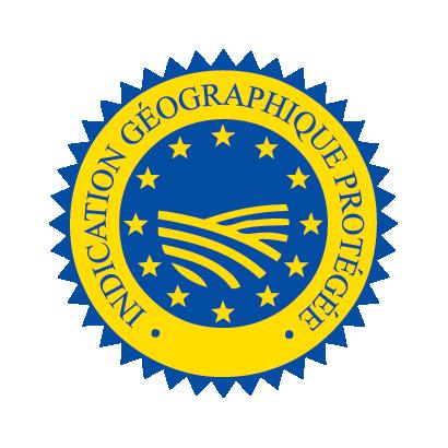 Logo IGP Indication Géographique protégée, garantissant le patrimoine gastronomique d'une région