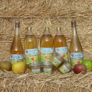 Jus de fruit et compote à base de pomme de l'EARL Saint Jaume